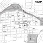 Map of downtown Calgary, AB
