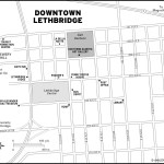Map of downtown Lethbridge, AB