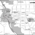 Map of Lethbridge, AB