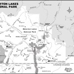 Map of Waterton Lakes National Park, AB