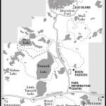 Map of Elk Island National Park, AB