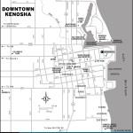 Map of Downtown Kenosha, Wisconsin