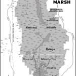 Map of Horicon Marsh, Wisconsin