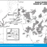 Map of Eagle Rive Chain of Lakes, Wisconsin