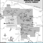 Map of Northern Highland-American Legion State Forest, Wisconsin