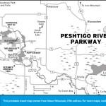 Map of Peshtigo River Parkway, Wisconsin
