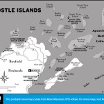 Map of Apostle Islands, Wisconsin
