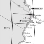 Map of Great River Road, Wisconsin
