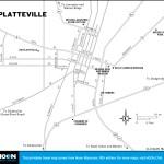 Map of Platteville, Wisconsin