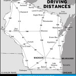 Map of Wisconsin Driving Distances