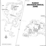 Map of Kabah Archaeological Zone