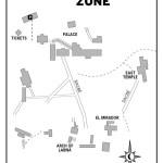 Map of Labná Archaeological Zone