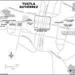 Map of Tuxtla Gutiérrez, Mexico