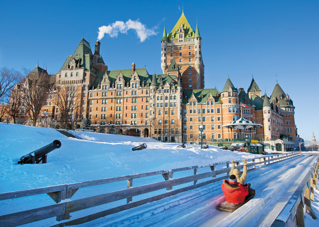 Slide in front of Chateau Frontenac