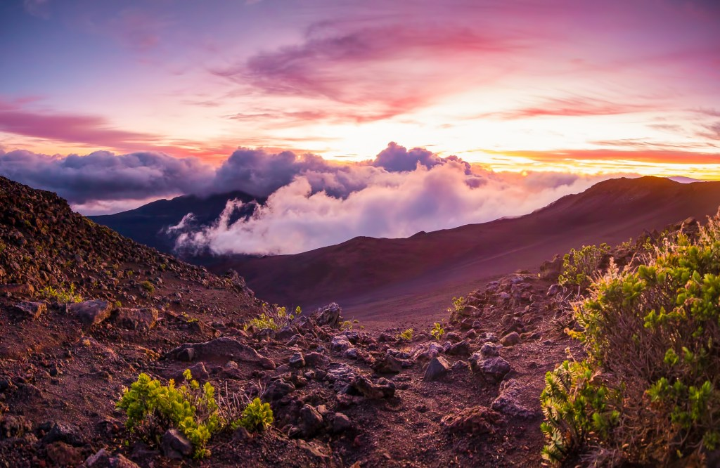 Sunrise at Haleakala.