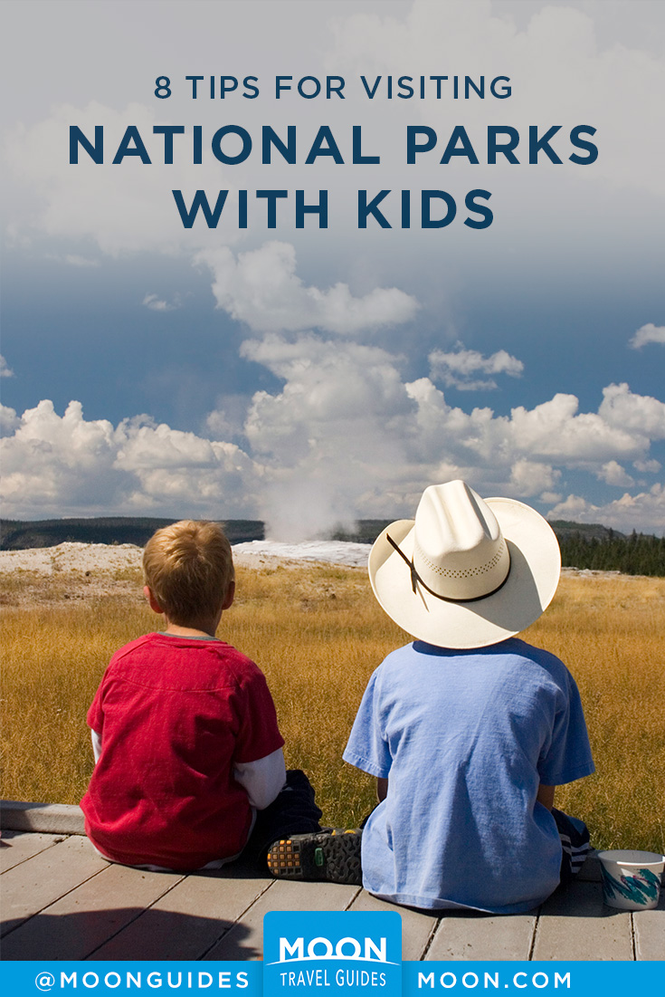 national parks with kids pinterest graphic
