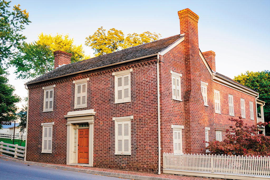 a red building that was once Andrew Johnson's home