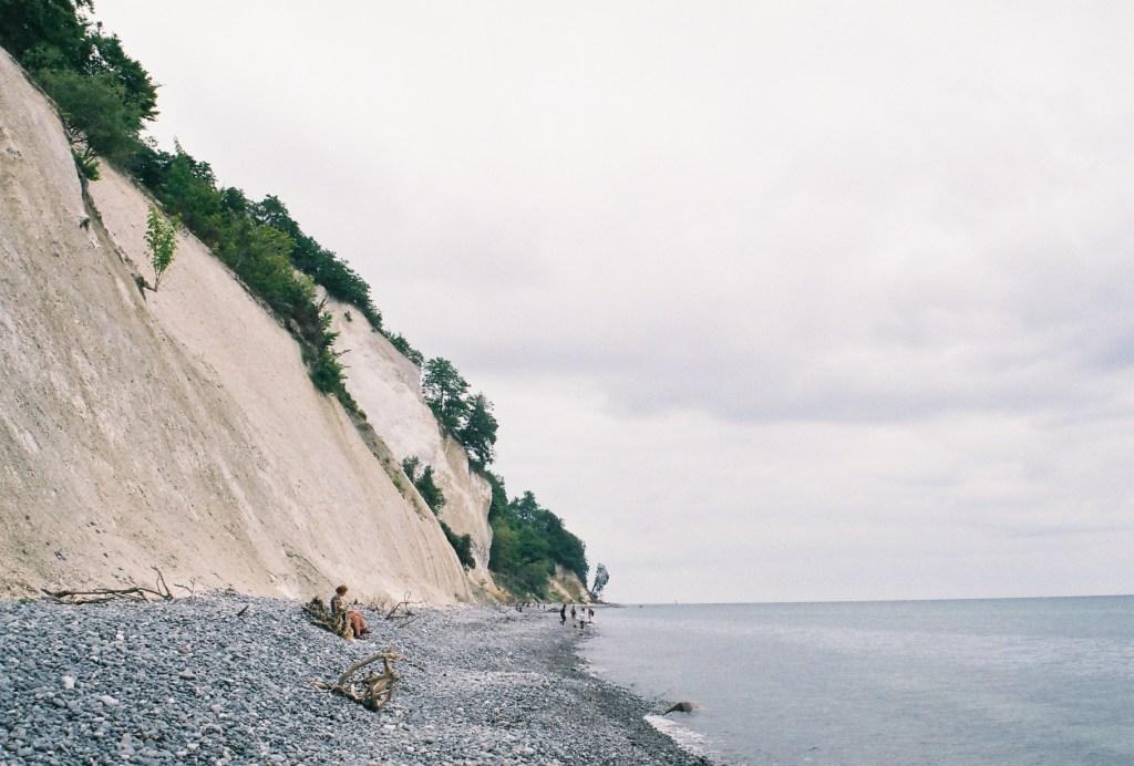 cliffside beach scene