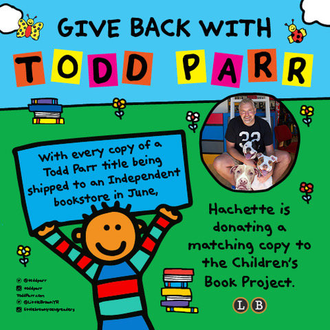 Todd Parr illustration for a call to action charity with bookstores