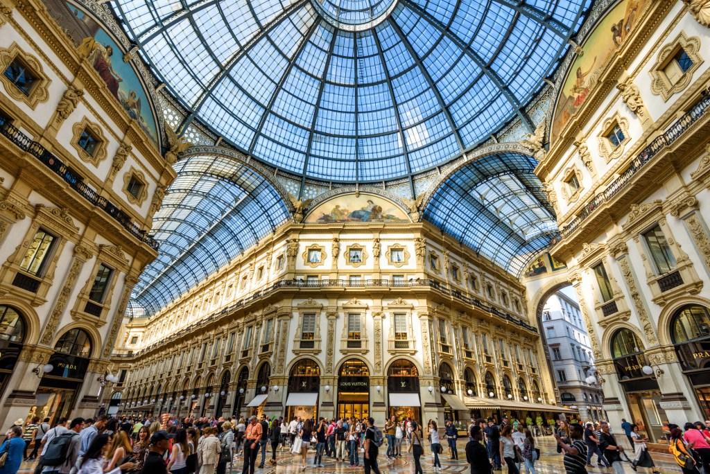 The Galleria Vittorio Emanuele II in central Milan.