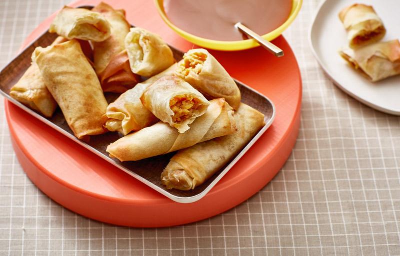 Cinnamon sugar banana rolls