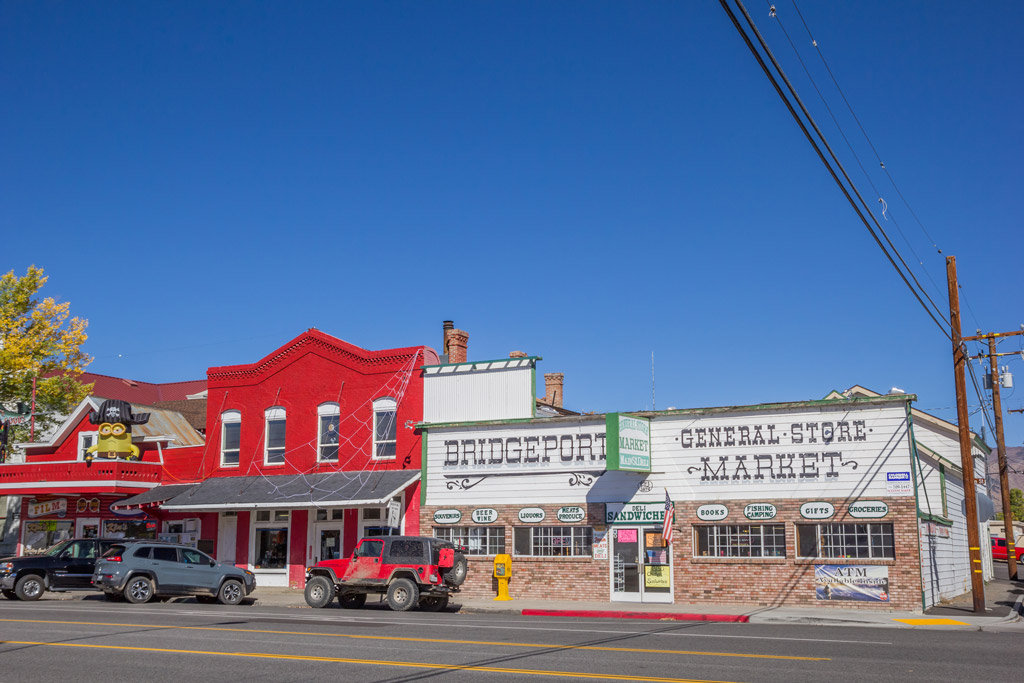 Photo of shops in Main Street Bridgeport California