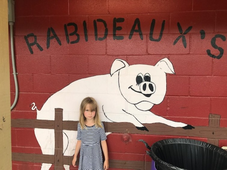 Rabideaux's restaurant wall