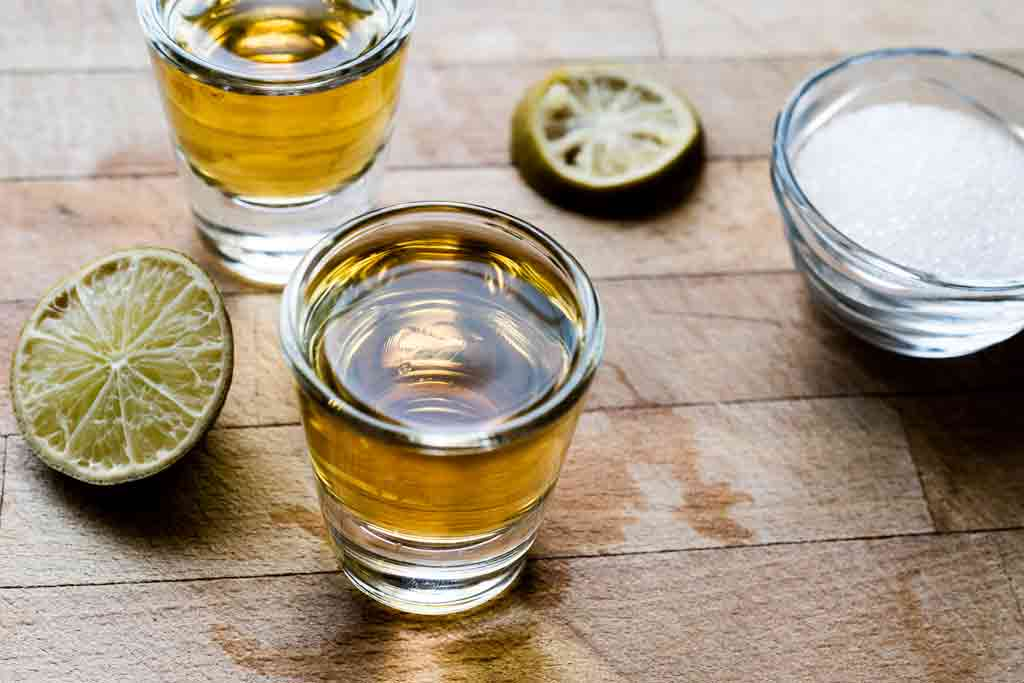 Photo of Mezcal with salt and lemon on the side