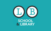 Little Brown School and Library on a teal background