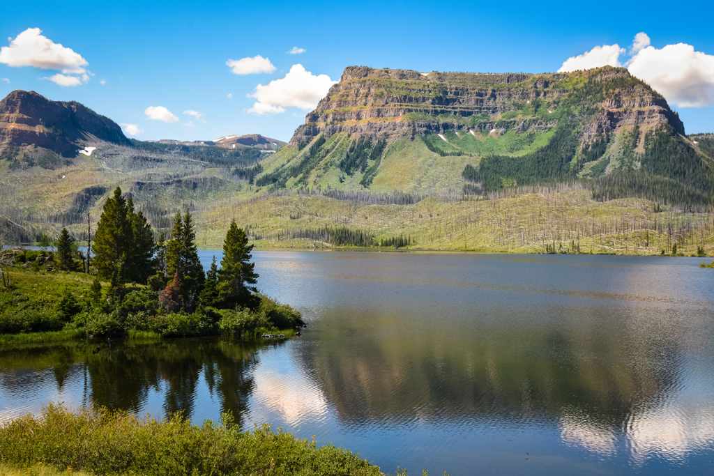 Trappers Lake In The Flattops, Colorado Mountain Scenery In Summer
