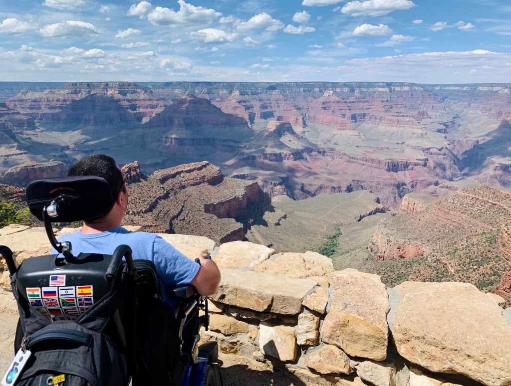 Cory Lee at the Grand Canyon.