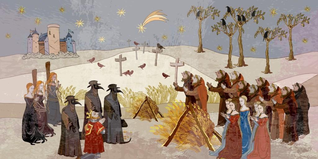 Coronavirus,Art.,Plague,Epidemic.,Terrible,Doctors.,Medieval,Scene.,World,Pestilence.