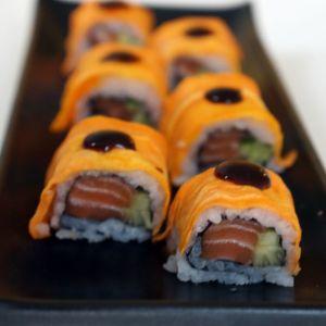 Receta de Batata rollo de sushi (sushi de papa dulce)