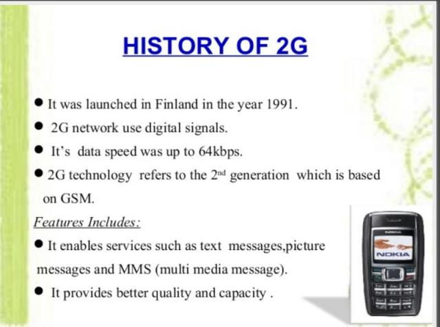 2G technology and facts