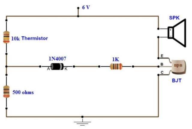 Fire detector using bc547