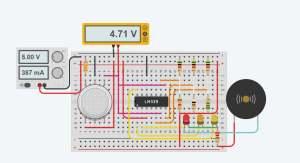 MQ2 gas sensor Circuit Diagram