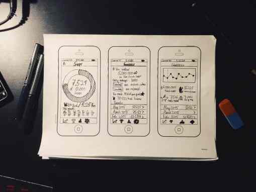 some sketches of the new user interface