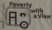 Buzztouch T-shirt: Poverty with a view