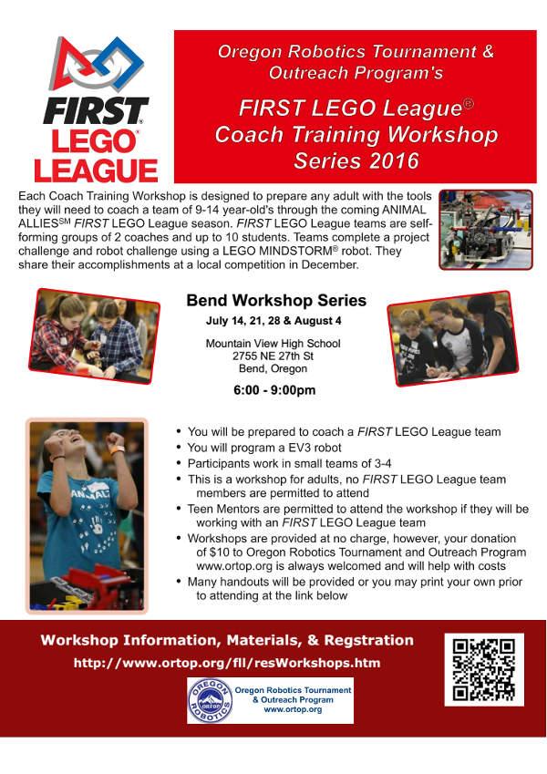 First Lego League Coach Training Workshop Hack Bend