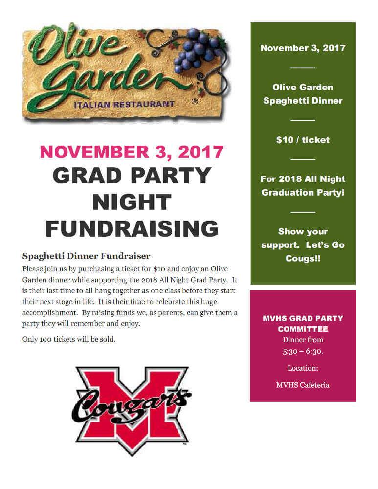 MVHS Grad Party fundraiser flyer