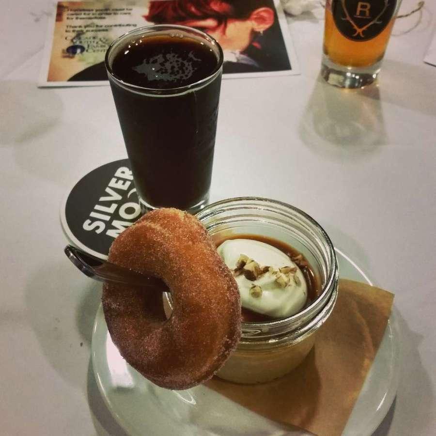 Pairing for a Purpose dessert - pot de creme and doughnut