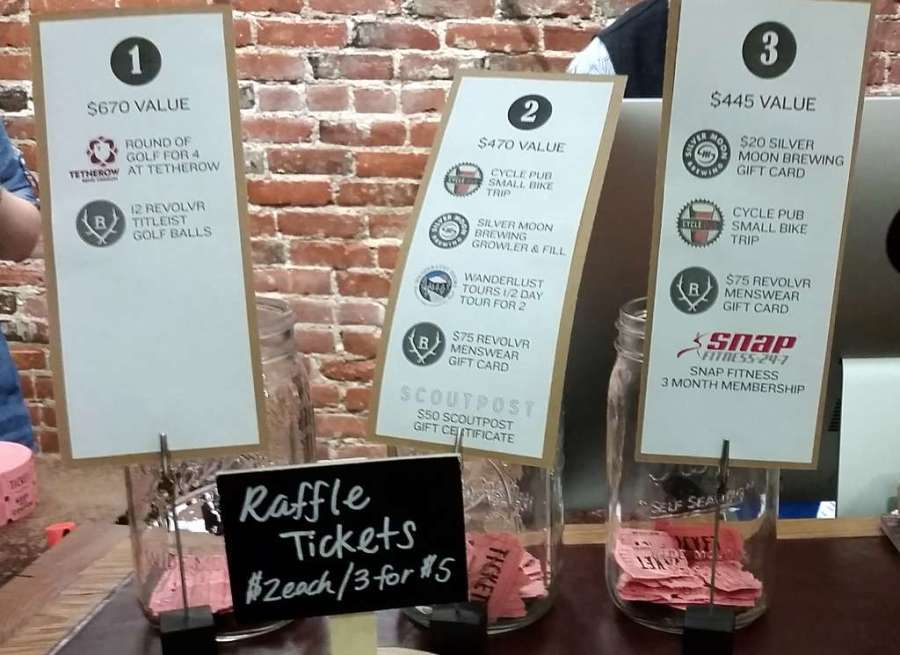 Pairing for a Purpose - raffle items