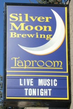 Silver Moon Brewing sign