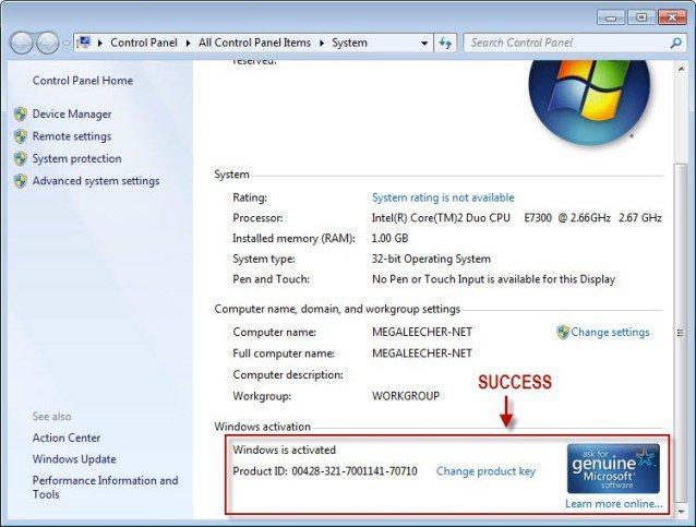 activate window 7, window 7 activator, activator daz v2.2.1