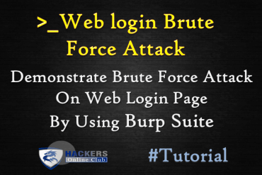 Burpsuite Demonstration Web Login