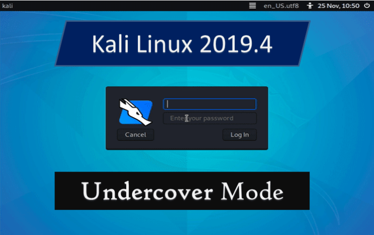 Kali Linux 2019-4 Undercover