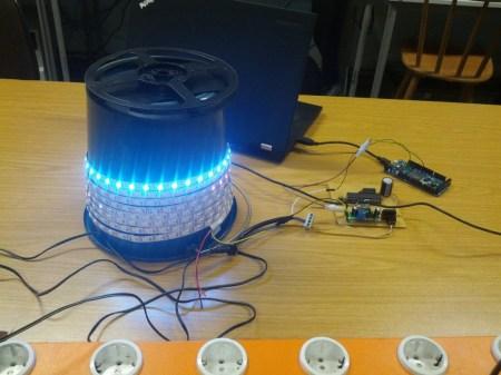Wohin mit 5 m LED-Stripe? Erstmal aufwickeln...