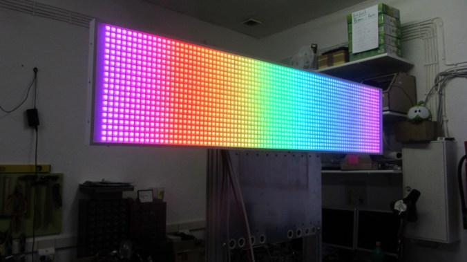 Regenbogen-Displaytest