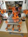 Ein Drucker kurz vor der Fertigstellung