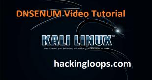 DNSENUM Video Tutorial on Kali Linux by Hackingloops
